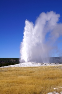 The required shot of Old Faithful