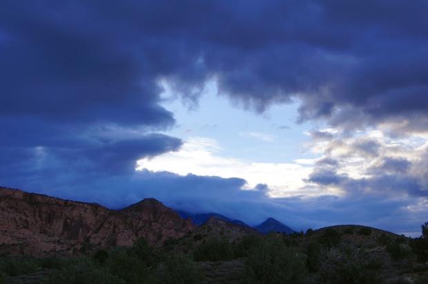 Sunrise at our campsite