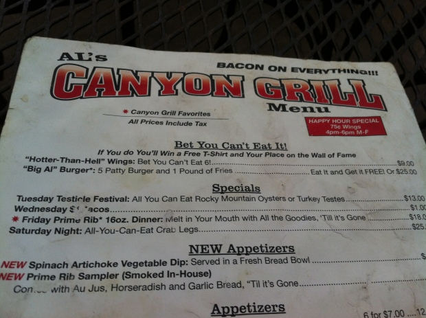 Canyon Grill near Horsetooth