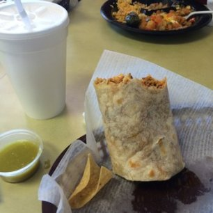 Breakfast of champions: burrito and horchata